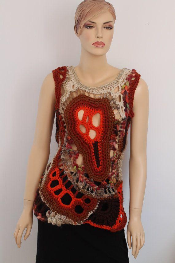 Hey, I found this really awesome Etsy listing at https://www.etsy.com/listing/121692844/chic-boho-hippie-chunky-freeform-crochet