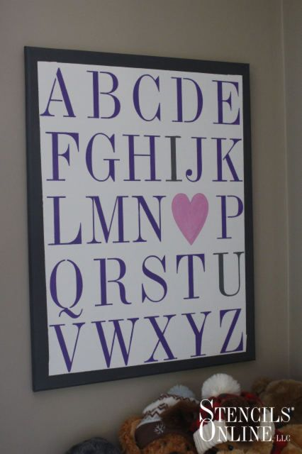 I LOVE you alphabet art