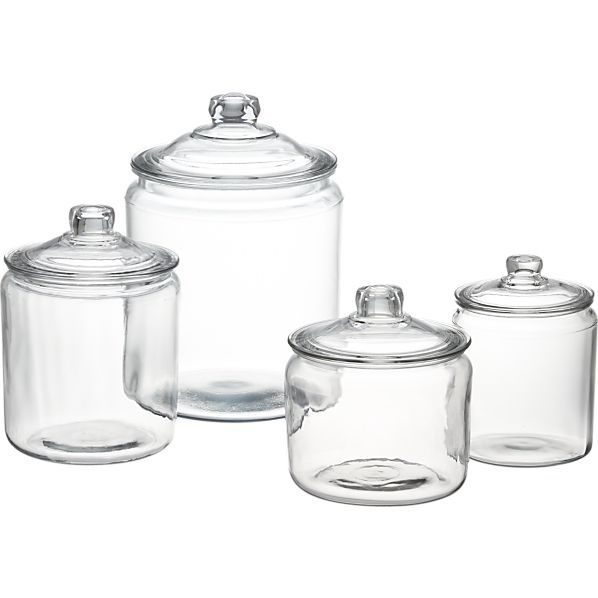 Heritage Hill Glass Jars with Lids in Food Containers, Storage | Crate and Barrel