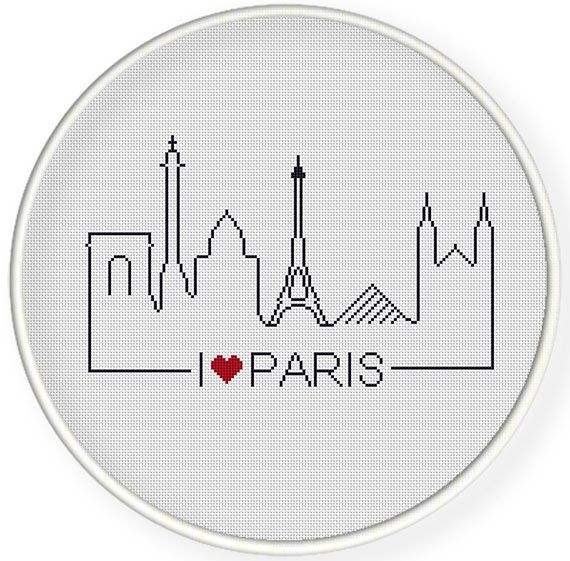 INSTANT DOWNLOAD,Free shippingCounted Cross-Stitch PDF,Friendship gift ,gift for couples,i love paris  ,landmark,landscape,city stitch