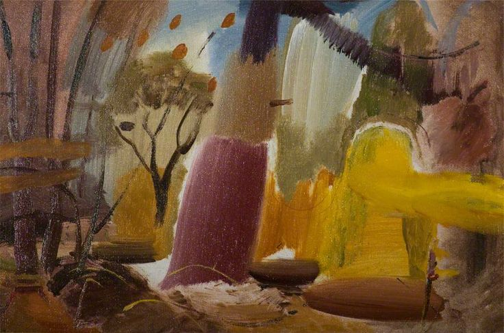 Woodpecker Tree by Ivon Hitchens Leicestershire County Council Artworks Collection Oil on canvas, 69.5 x 95 cm Collection: Leicestershire County