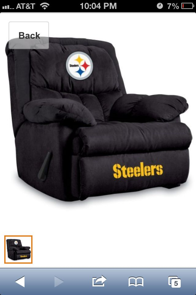 Chicago Bears NFL Home Team Recliner Chair/Furniture : steelers recliner - islam-shia.org