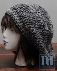 Free Crochet Pattern Chunky Slouchy Hat : FREE PATTERN: Basic Slouchy Hat - use a chunky yarn for a ...