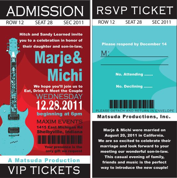 Printable DIY Concert Rock nu0027 Roll Birthday, Concert TIckets - concert ticket invitations