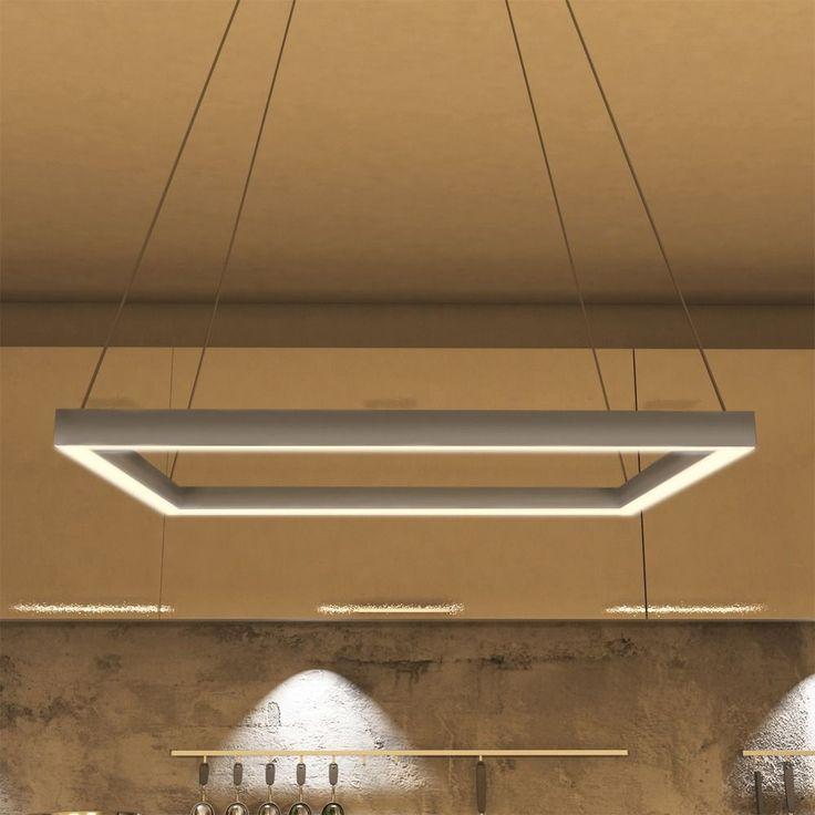 VONN Lighting VMC31620AL Atria 20-inch LED Modern Square Chandelier in Silver