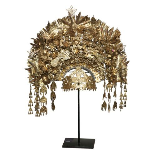 Indonesian ceremonial wedding headdress
