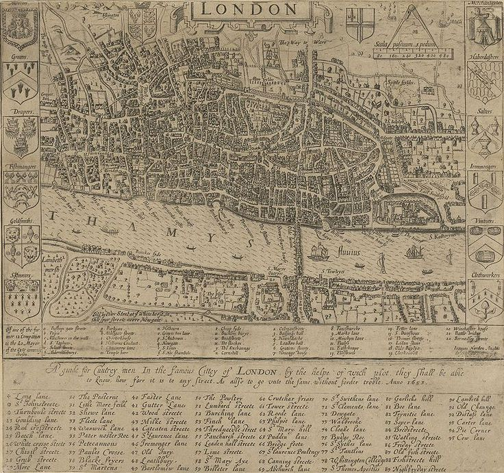Mapa London%0A Century Map of London by John Norden English cartographer  chorographer and  antiquary  Dated       Stock Image