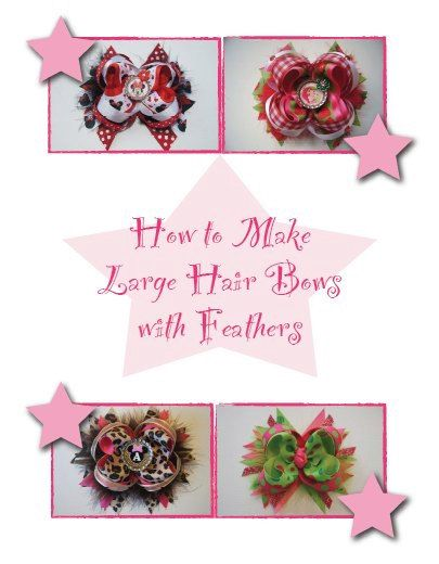 How to Make Hair Bows Instructions by BlueMonetCreations on Etsy