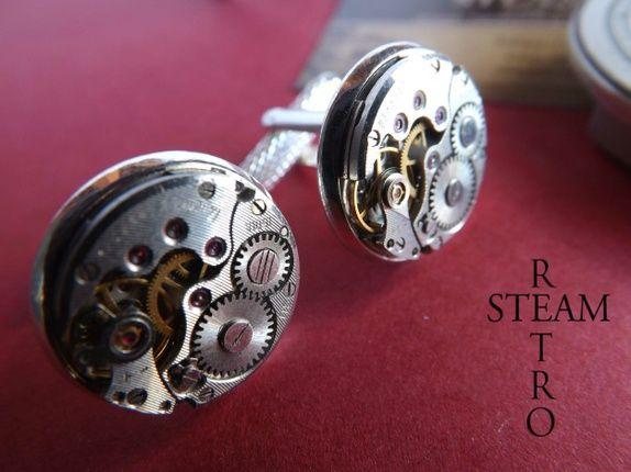 Menn Steampunk bryllup Mansjettknapper 16 mm - Julen spesiell