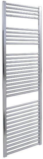 400 x 1800 Straight Chrome Heated Towel Rail - Dual Fuel