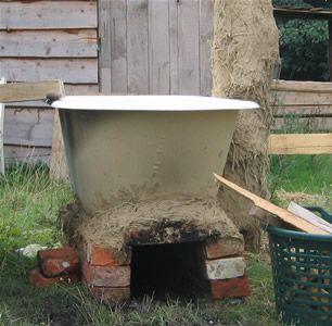 Holzbefeuerte badewanne garten ideen mauern z une for Gartenidee steine