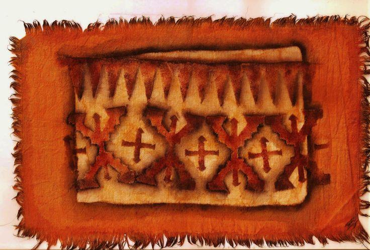 Guarda tehuelche (Patagonia y región pampeana) ARGENTINA (trabajo sobre lienzo)