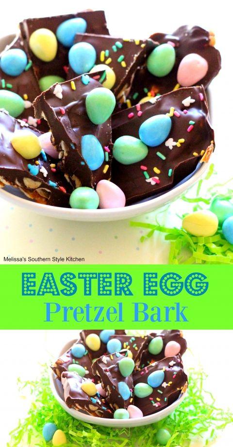 Easter Egg Pretzel Bark