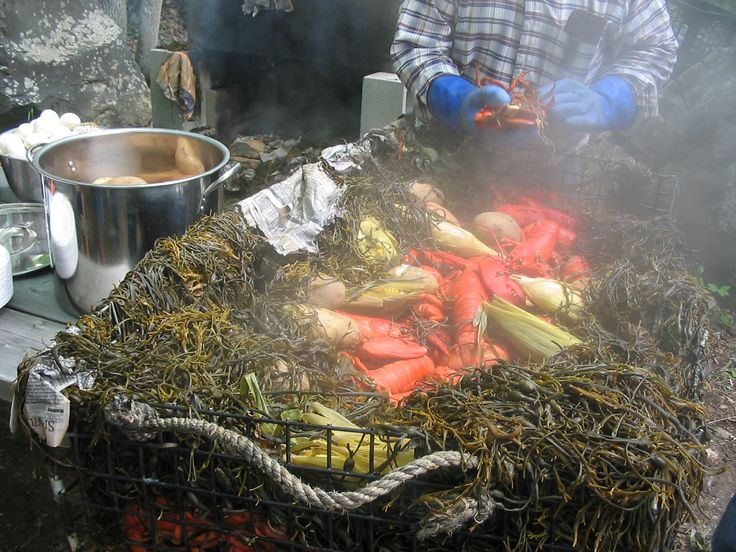 How to do a New England Clambake at home. Ambitious cooking but would be fun!