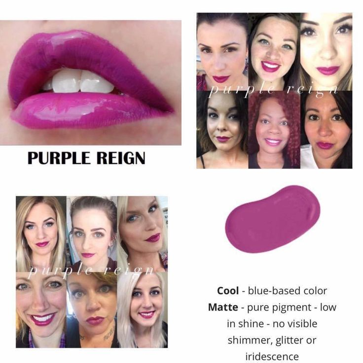 Purple Reign Kiss-proof, waterproof, smudge-proof lipstick that last up to 18 hours.  Vegan and hydrating.   Shop at www.squarup.com/store/khiegert Join my facebook group for updates and specials https://www.facebook.com/groups/232913190449092/