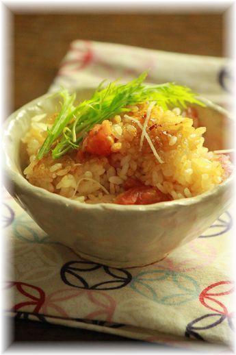 トマトと生姜の炊き込みご飯