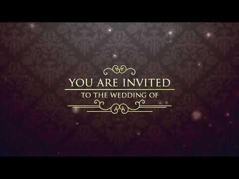 Best Traditional Wedding Invitation Video Free Wedding Invitation Video 10 Free Blank Youtube In 2020 Wedding Invitation Video Free Wedding Invitations