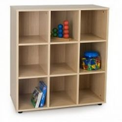 Mueble escolar intermedio 9 casillas
