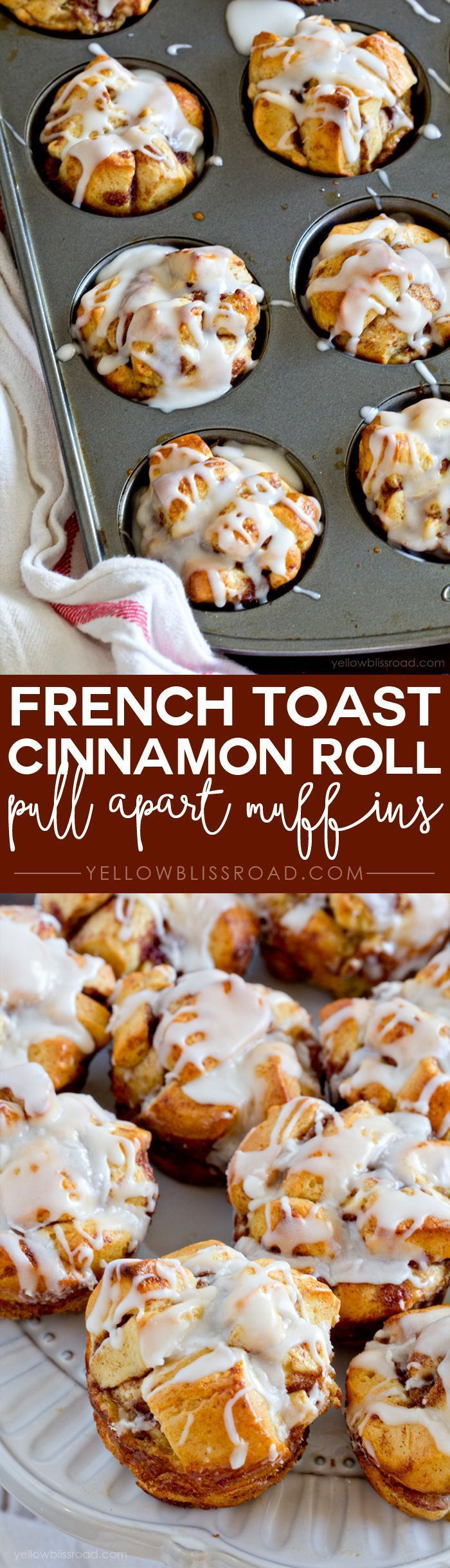 French Toast Cinnamon Roll Pull Apart Muffins recipe