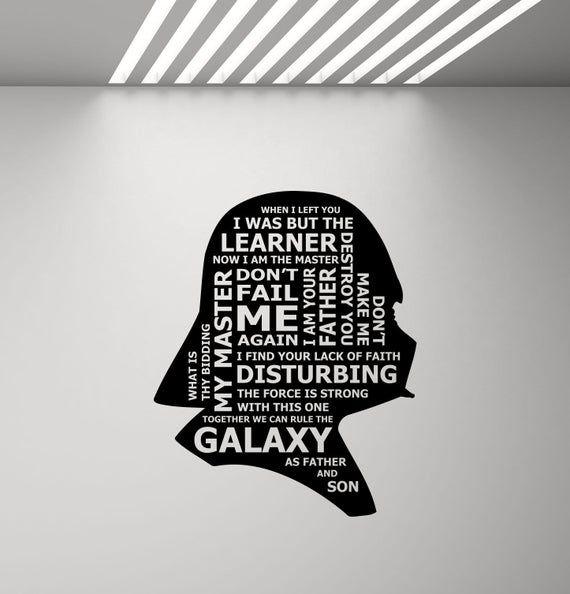 Decal//Sticker Rule the Galaxy Star Wars