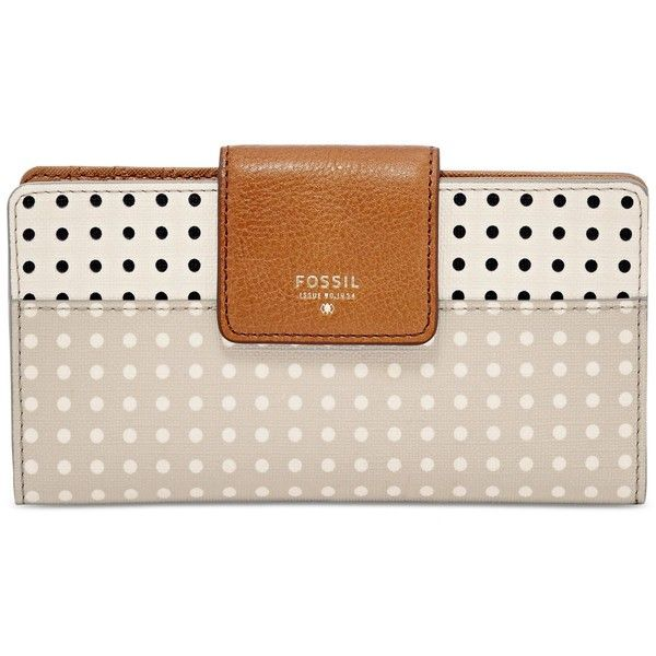 Fossil Sydney Tab Wallet ($50) ❤ liked on Polyvore featuring bags, wallets, fossil wallet, pink clutch wallet, pink wallet, fossil bags and pocket bag