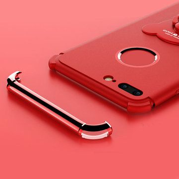 3 In 1 plating Ring Grip Stand Holder Soft TPU Case For iPhone 7 Plus Sale - Banggood.com