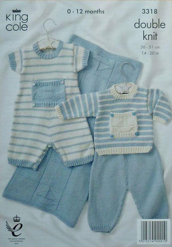 K3318 Babies Romper Suit Set Knitting by KnittingPatterns4U