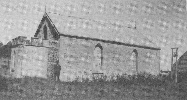 Wesleyan Church, Mt Duneed - destroyed by fire in 1944.