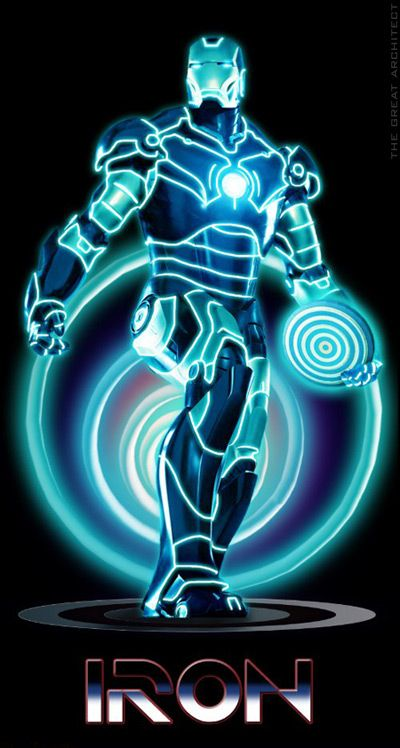 Iron Tron! Movie mashups ... love it!!