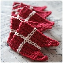 Crocheted Danish Flag Garland!