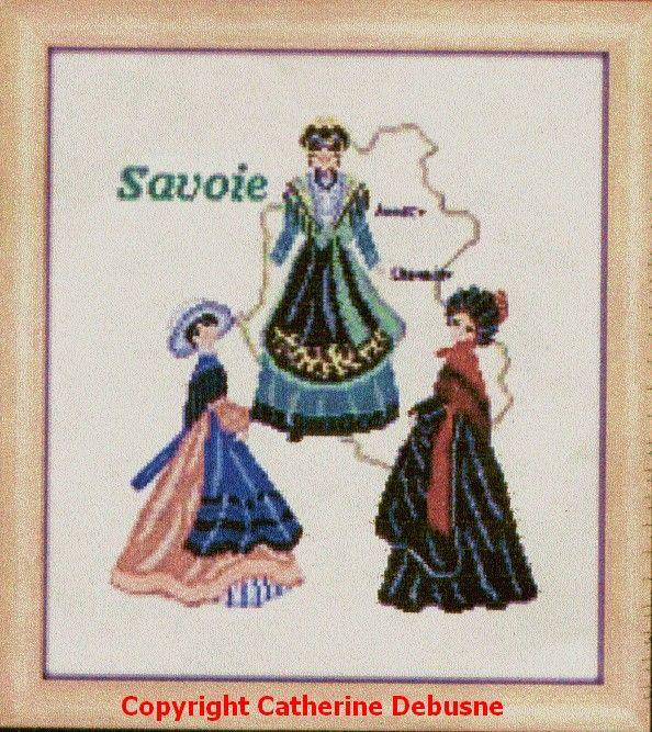 Quelques uns des magnifiques costumes de Savoie http://www.luc.tm.fr/catalogue/kits-points-comptes/tableau-a-broder-autres-createurs/catherine-debusne