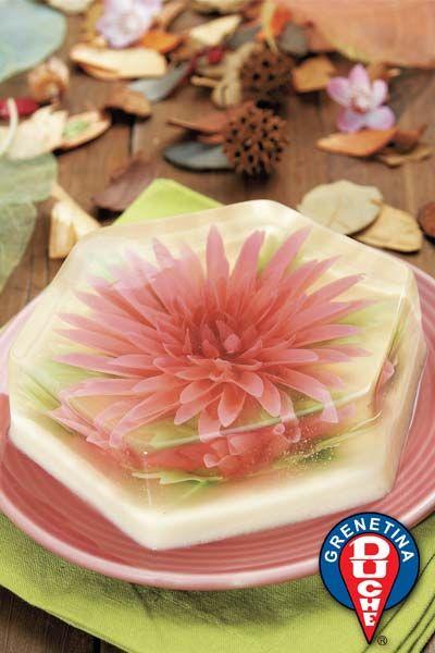Such edible beauty! Gelatin Floral Gelatin