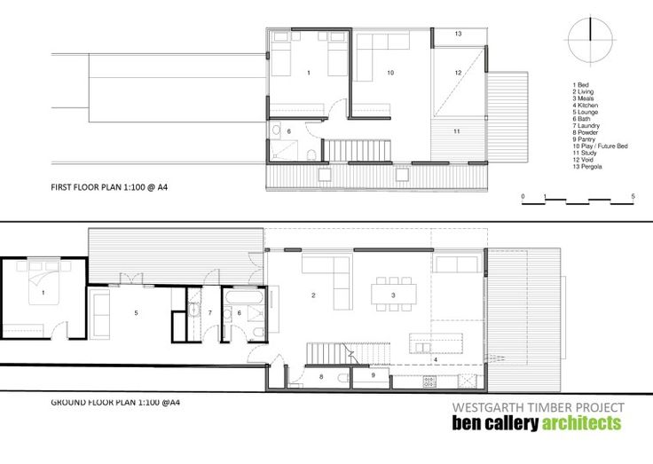 Westgarth Timber House plans 1