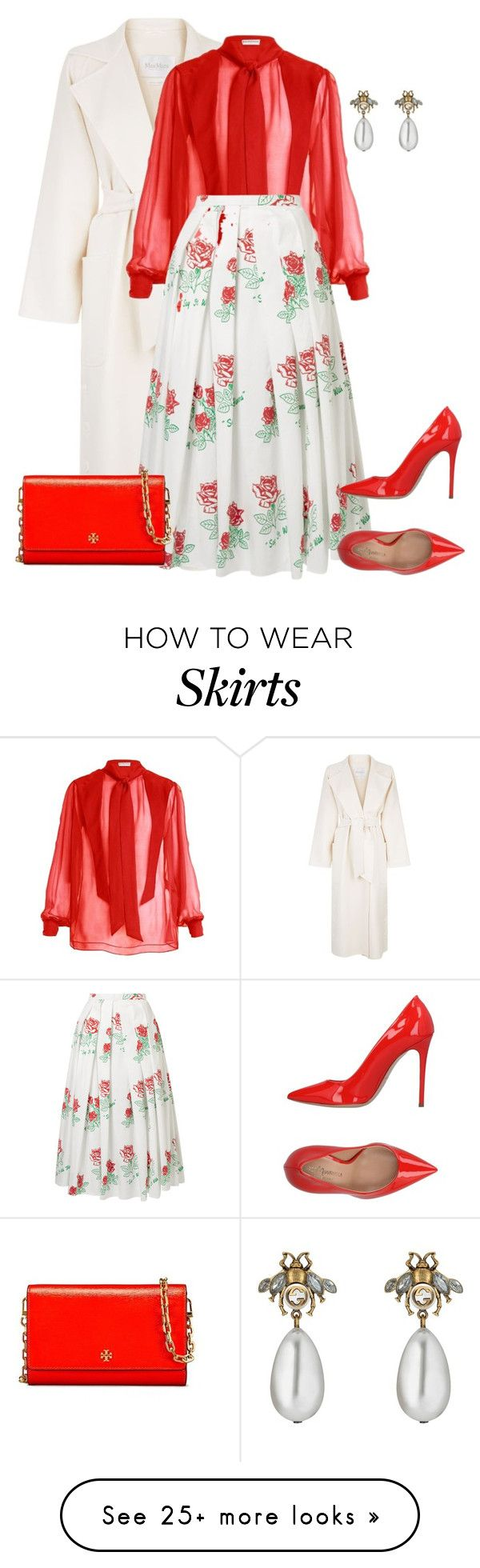 """outfit 7594"" by natalyag on Polyvore featuring MaxMara, Balenciaga, Rosie Assoulin, Marco Barbabella, Tory Burch and Gucci"