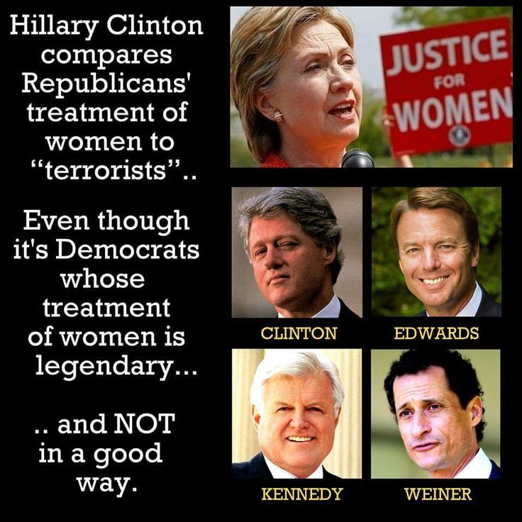 Bill Clinton, John Edwards, Ted Kennedy, Anthony Weiner