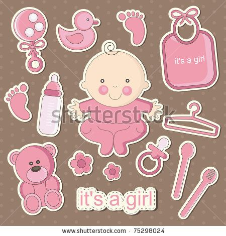 Cute Baby Elements Vector Set | Free Vector Graphics | All Free Web Resources for Designer - Web Design Hot!