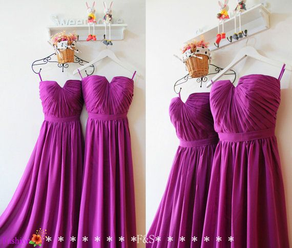 Purple Bridesmaid Dress,Long Chiffon Bridesmaid Dress,Bridesmaid Dress Under 100,Elegant Sexy Bridesmaid Dress,Prom Dress,Bridesmaid Dresses