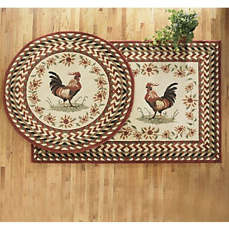 17 best images about rooster on pinterest rooster decor for Country style kitchen rugs