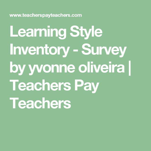 Learning Style Inventory - Survey by yvonne oliveira | Teachers Pay Teachers