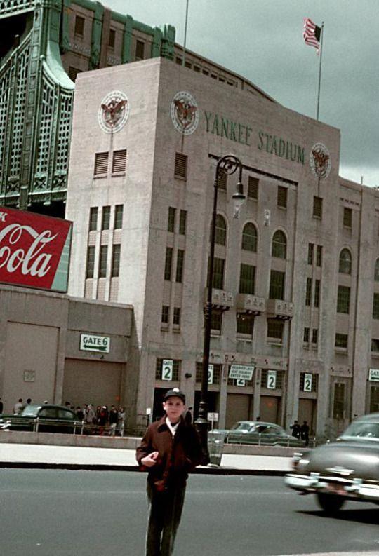 Awesome shot of old Yankees Stadium