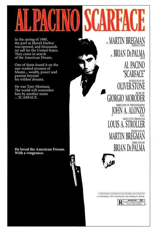 HTD Canada Scarface Movie Poster 27 x 40