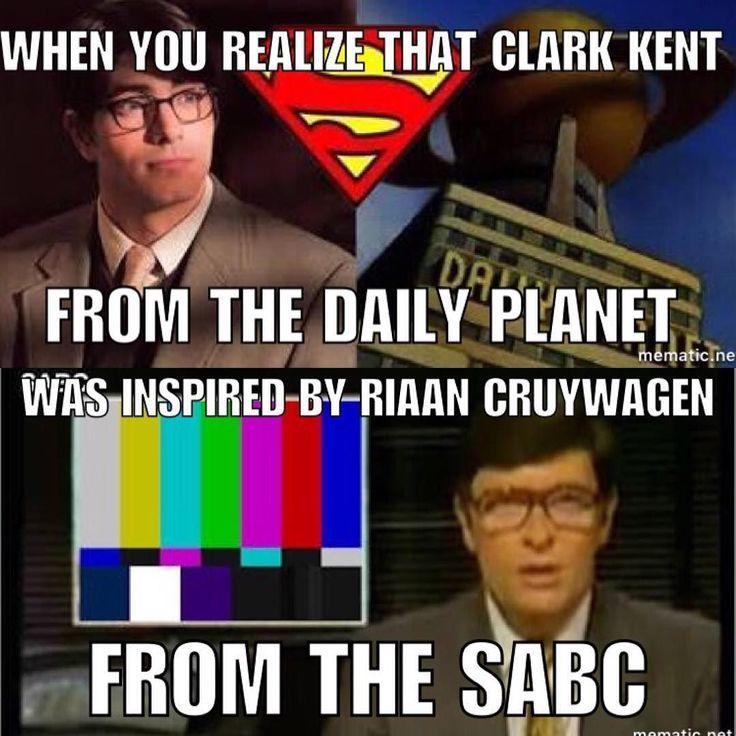 What a baller #superman #riaancruywagen #clarkkent #news #undercover