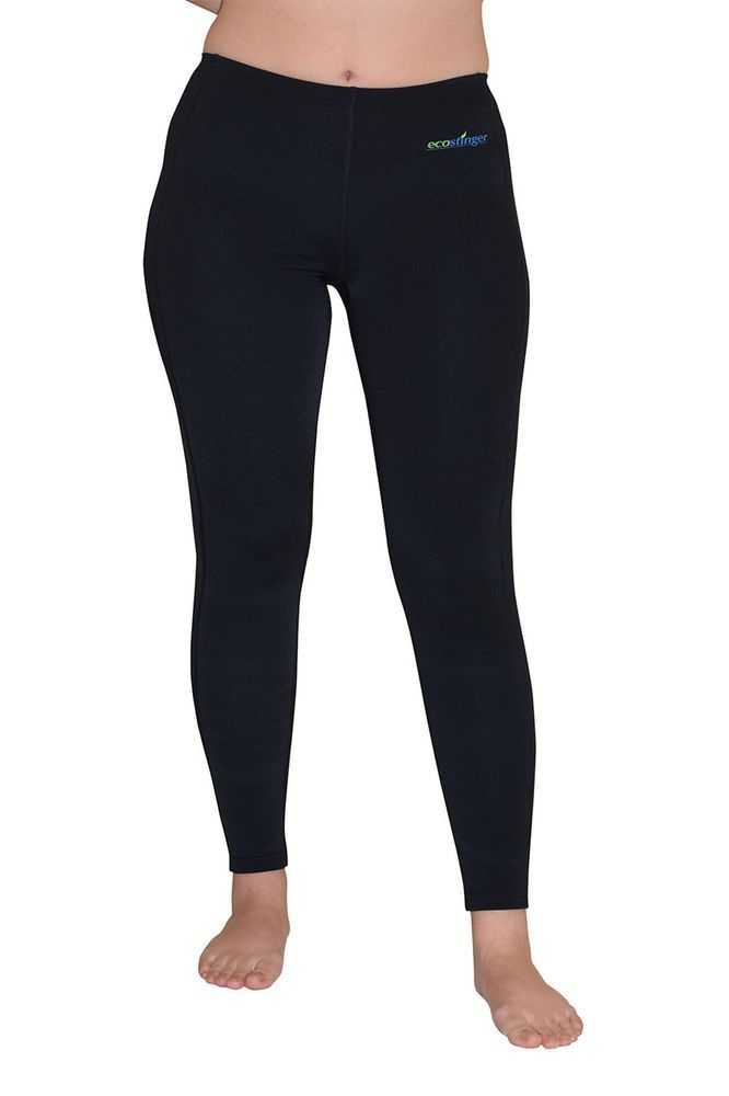 UV PROTECTION CLOTHES SWIM TIGHTS LIGHT WEIGHT PLUS SIZE BLACK FOR WOMEN #ECOSTINGER #SWIMTIGHTSPLUSSIZEBLACK