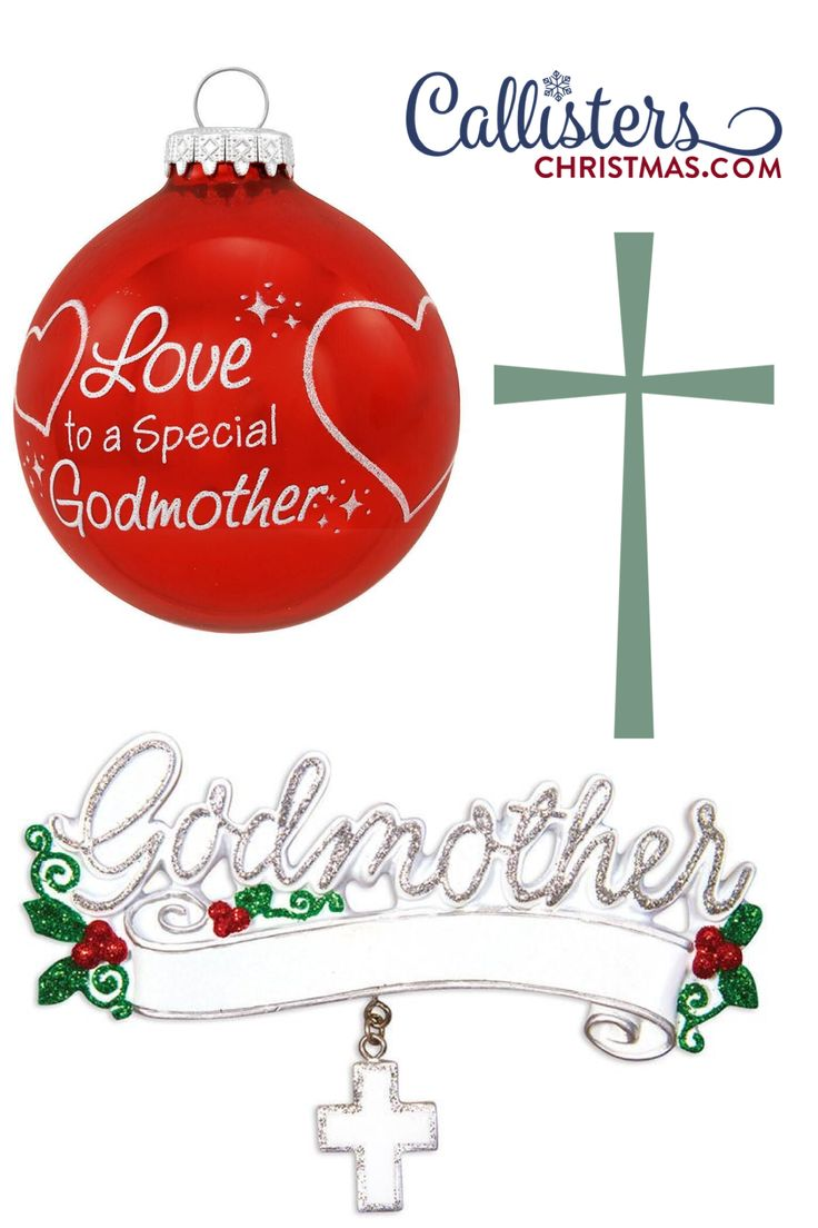 Our personalized godmother ornaments make a great ...