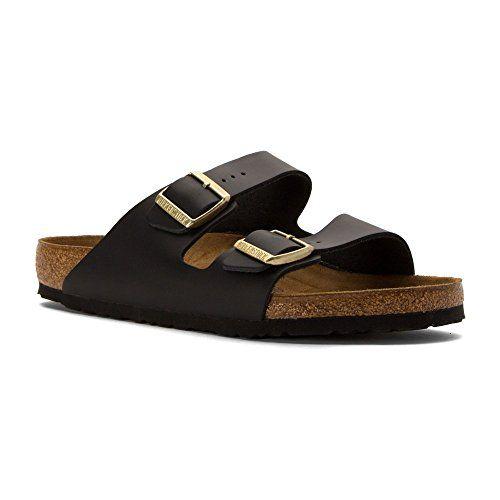 6499d2ed97bf Birkenstock Women s Arizona Soft Footbed Sandal Hunter Black Leather Size 42  M EU