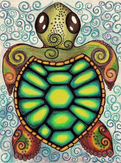 Baby Sea Turtle Art Print