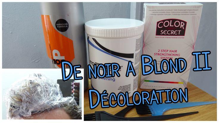 DE NOIR A BLOND (Deuxième Partie) Décoloration | Color Secret, Montespa