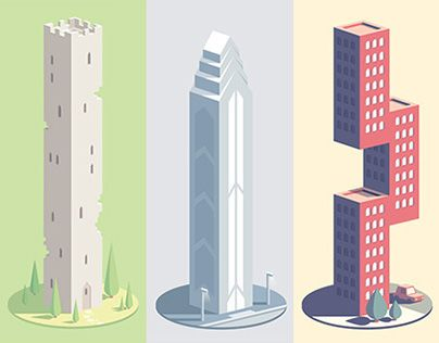 Sample of the seriesof weird buildings I created for NeonMob!Begin collection here : https://www.neonmob.com/collection/mr-ws-skyscraper-catalog