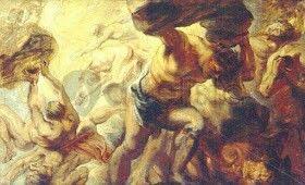 Gigantomaquia - Depois de Zeus vencer seu pai Cronos e os Titãs e tranca-los no Tártaro, Gaia fica revoltada com Zeus e da á luz a os Andróginos seres com duas cabeças e quatro braços e pernas eÓrgãosmasculinos efemininos...