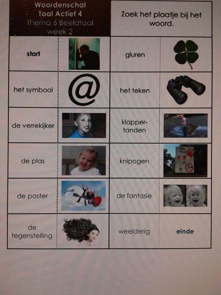 Woordenschatdomino taalactief thema 6 groep 4. Te downloaden van digischool.